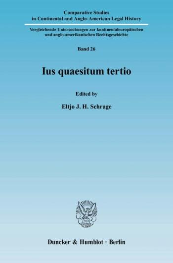 Cover: Ius quaesitum tertio