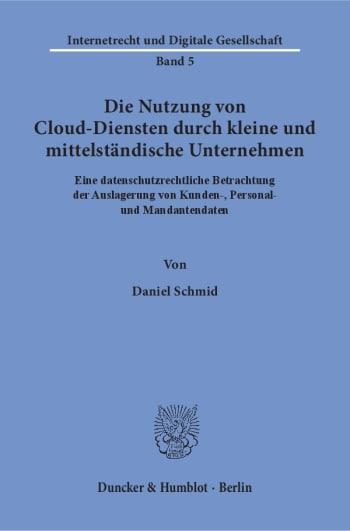 Cover: Die Nutzung von Cloud-Diensten durch kleine und mittelständische Unternehmen