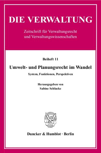 Cover: Umwelt- und Planungsrecht im Wandel