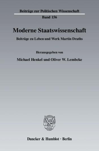 Cover: Moderne Staatswissenschaft