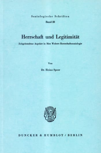 Cover: Herrschaft und Legitimität