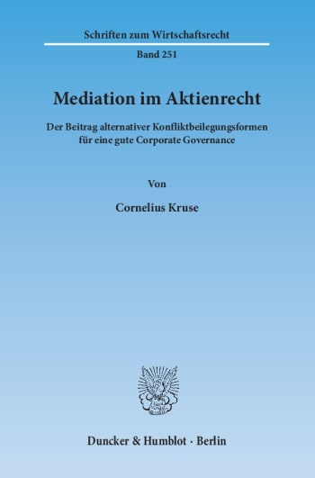 Cover: Mediation im Aktienrecht