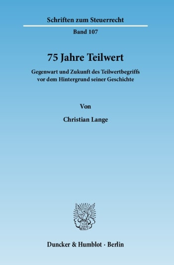 Cover: 75 Jahre Teilwert
