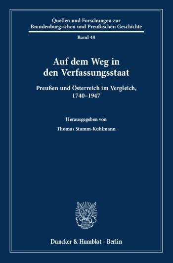 Cover: Auf dem Weg in den Verfassungsstaat