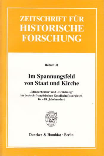 Cover: Im Spannungsfeld von Staat und Kirche