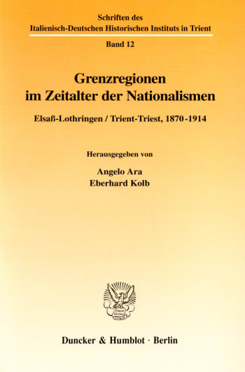 Cover: Grenzregionen im Zeitalter der Nationalismen