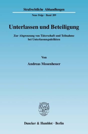 Cover: Unterlassen und Beteiligung