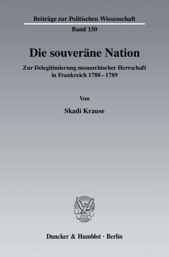 Cover: Die souveräne Nation