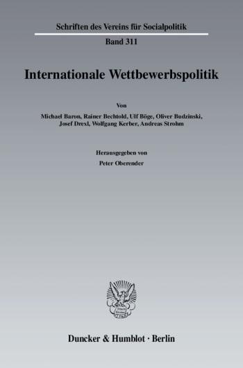 Cover: Internationale Wettbewerbspolitk