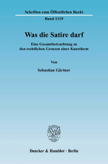 Cover: Was die Satire darf