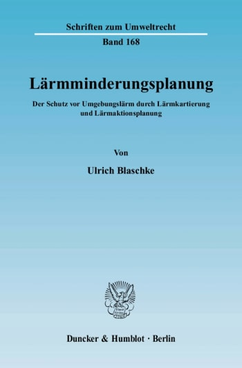 Cover: Lärmminderungsplanung