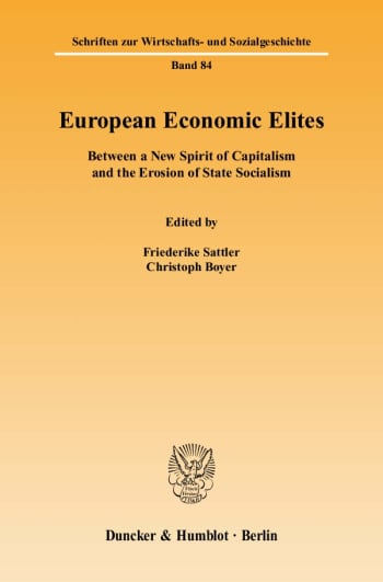 Cover: European Economic Elites