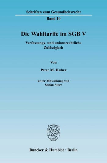 Cover: Die Wahltarife im SGB V