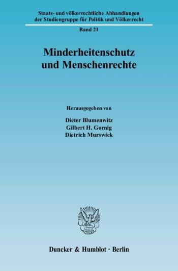 Cover: Minderheitenschutz und Menschenrechte