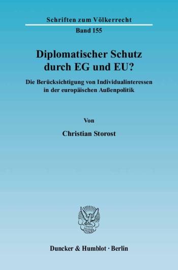 Cover: Diplomatischer Schutz durch EG und EU?