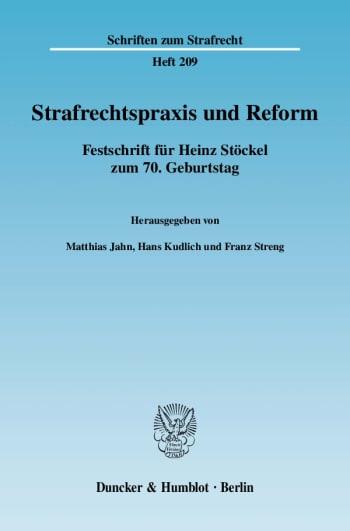 Cover: Strafrechtspraxis und Reform