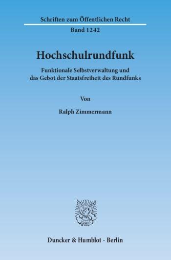 Cover: Hochschulrundfunk