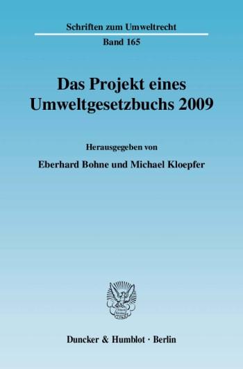 Cover: Das Projekt eines Umweltgesetzbuchs 2009
