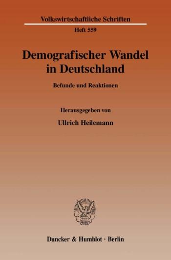 Cover: Demografischer Wandel in Deutschland