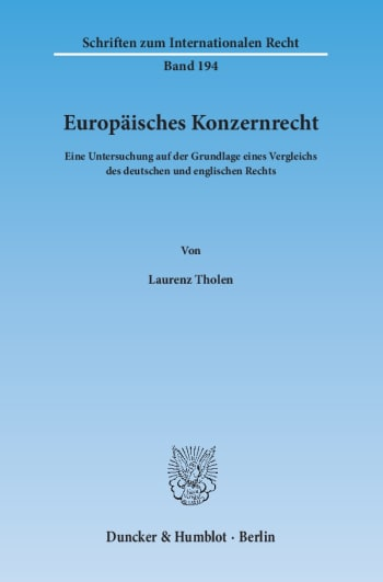 Cover: Europäisches Konzernrecht