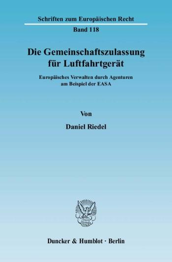 Cover: Die Gemeinschaftszulassung für Luftfahrtgerät