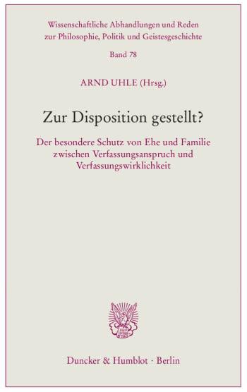 Cover: Zur Disposition gestellt?