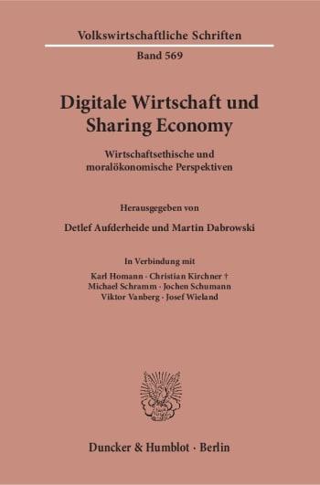Cover: Digitale Wirtschaft und Sharing Economy