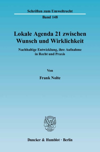 Cover: Lokale Agenda 21 zwischen Wunsch und Wirklichkeit