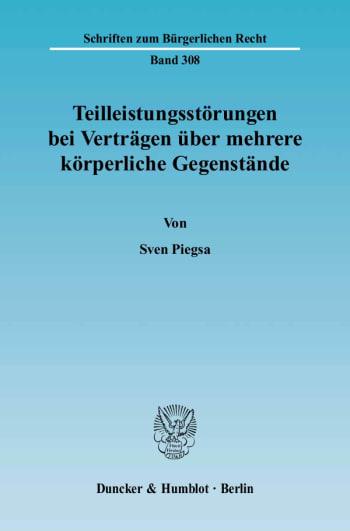 Cover: Teilleistungsstörungen bei Verträgen über mehrere körperliche Gegenstände