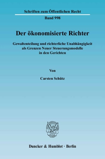 Cover: Der ökonomisierte Richter