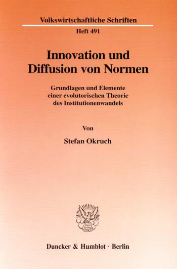 Cover: Innovation und Diffusion von Normen