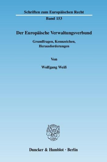 Cover: Der Europäische Verwaltungsverbund