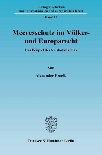 Cover: Meeresschutz im Völker- und Europarecht