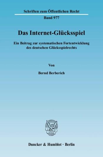 Cover: Das Internet-Glücksspiel