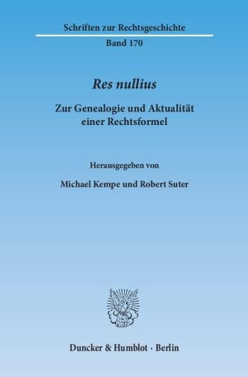 Cover: Res nullius