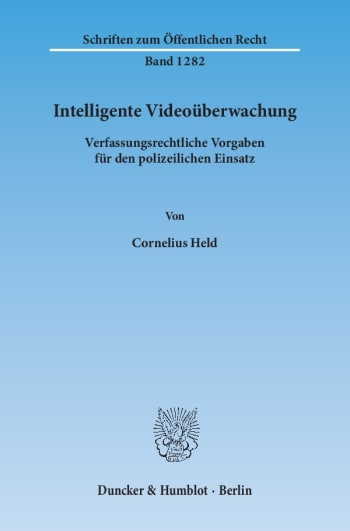 Cover: Intelligente Videoüberwachung
