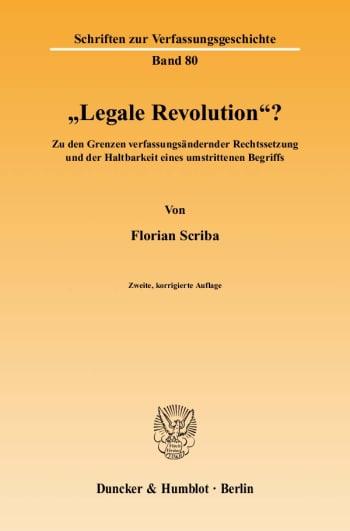 """Cover: """"Legale Revolution""""?"""