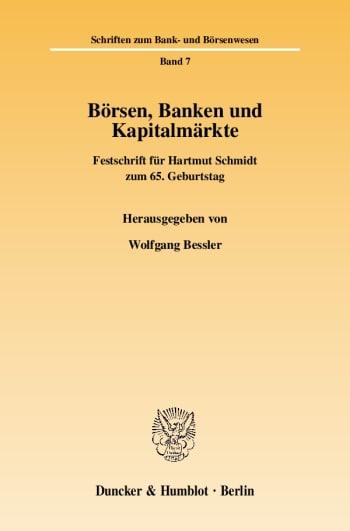 Cover: Börsen, Banken und Kapitalmärkte