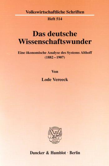 Cover: Das deutsche Wissenschaftswunder