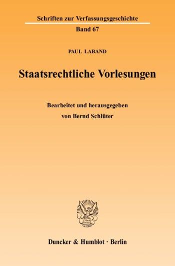 Cover: Staatsrechtliche Vorlesungen