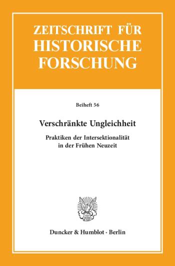 Cover: Zeitschrift für Historische Forschung. Beihefte (BH ZHF)