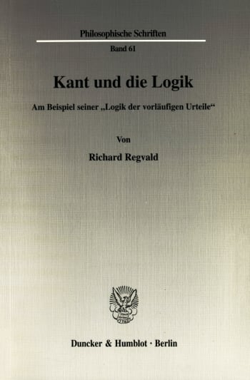 Cover: Kant und die Logik