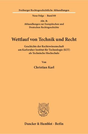 Cover: Wettlauf von Technik und Recht