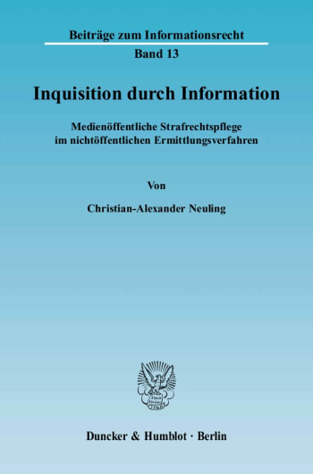 Cover: Inquisition durch Information