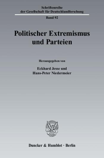 Cover: Politischer Extremismus und Parteien