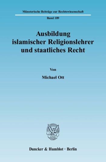 Cover: Münsterische Beiträge zur Rechtswissenschaft (MBR)