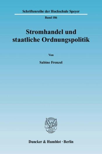 Cover: Stromhandel und staatliche Ordnungspolitik