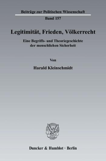 Cover: Legitimität, Frieden, Völkerrecht