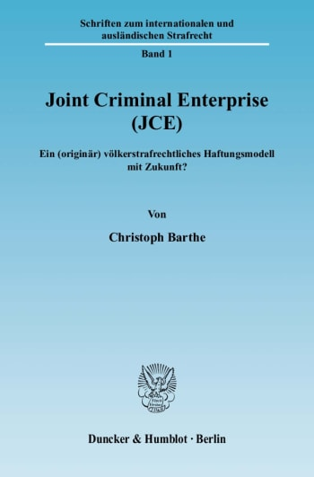 Cover: Joint Criminal Enterprise (JCE)