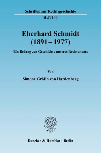 Cover: Eberhard Schmidt (1891–1977)